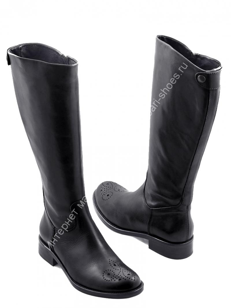 Купить женские сапоги зимние без каблука (на каблуке